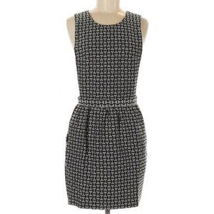 Topshop | black & white geometric triangle dress